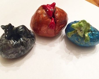 Choose ONE Mini Marble Friends Dragon Baby Hatching Egg Choose Color and Style