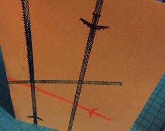 Flight pattern air traffic notecard
