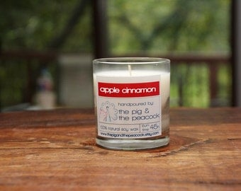 Apple Cinnamon Pure Soy Wax Candle - 7.5 oz