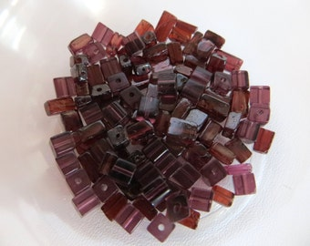 Garnet Bead Chips, Red Garnet Beads