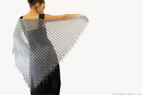 CROCHET PATTERN - Wrapped in Lace Shawl - Instant Download (PDF)