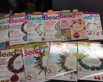 Bead Style Magazines Lot