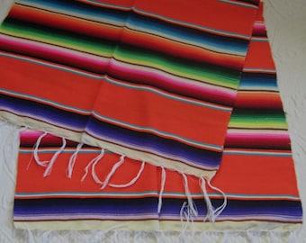 woven table runner . wool table runner . woven Mexican table runner . folk table runner . ethnic table runner . hand woven