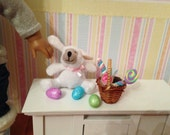American Girl Easter Basket candy, eggs, stuffed animal toy.  Easter goody assortment