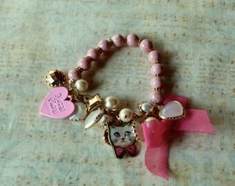 Sweet Lolita charms stretch bracellets