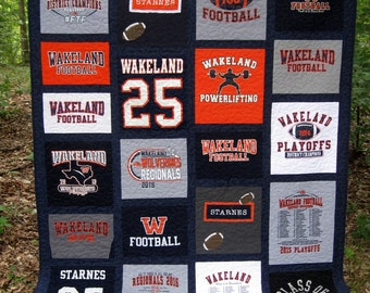 college dorm quilt, memory quilt, t-shirt quilt, nap quilt, lap quilt, dorm room quilt, twin quilt, twinXL quilt .....Made to order