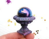 Miniature Garden Fairy Gazing Globe with Urn for Fairy, Terrarium, Extremely Cute, Pretty Twinkly, for Halloween Too