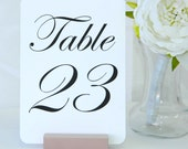 Table Numbers - Rose Gold Wood Wedding Table Number Holders  (Set of 16)