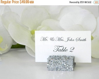 10% off ends at 5pm Place Card Holder + Silver Glitter Place Card Holder- Set of 100 (ON SALE)