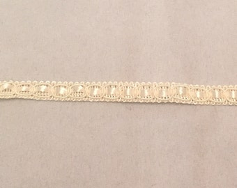Vintage Ivory Ribbon Laced Trim -2 yards-