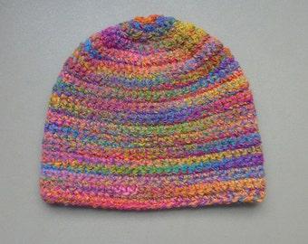 Beanie Hat, Women Crochet  Beanie Hat, Winter Hat for Women,  Winter Beanie, Beanie Hat Stretch, Soft Warm Multi Color Teen Adult Size