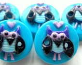 "Ready to Ship 5 5/8"" Owl buttons"