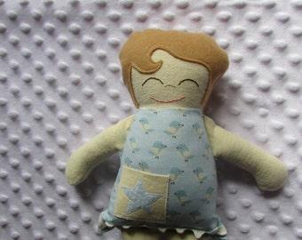 Ryder Small Handmade Fabric Baby Doll