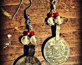 Quartz and Coin Earrings