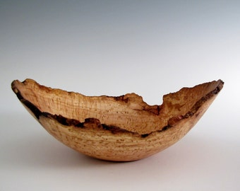 Wood Bowl- Natural Edge Cherry  Burl Wood Turned Bowl - Housewarming Gift - Home Decor - Home and Living - Wooden Centerpiece - Wedding Gift
