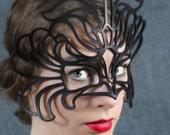 SALE! Decaflor leather mask in black