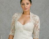 Lace Bridal Shrug - Lace Shrug - Bridal Jacket - Rachel