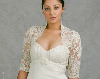 Lace Bridal Shrug - Lace Shrug - Bridal Jacket - Rachel