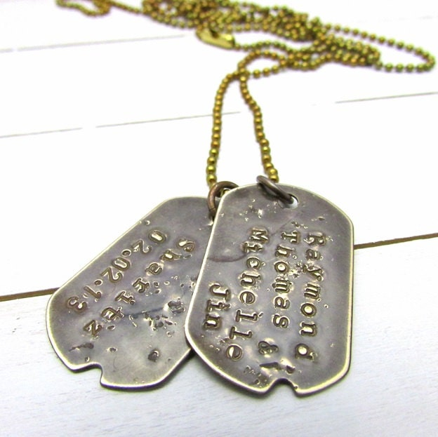 gift for him custom dog tags personalized dogtag necklace. Black Bedroom Furniture Sets. Home Design Ideas