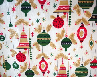Christmas Fabric Destash – The Vintage Christmas - Almost A Yard, 100% Cotton, by Red Rooster