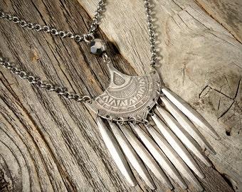 Mexican Fringe Pendant Necklace