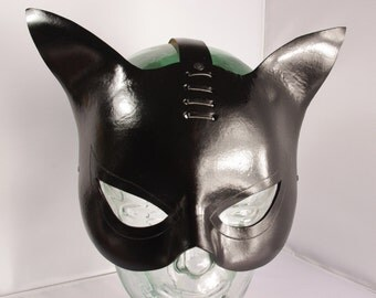 Leather Catwoman Mask