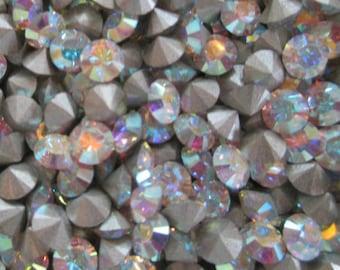 72pc pp32 Crystal AB ss17 Swarovski Size 17 or 4mm Chatons Art 1028 Swarovski Crystal pp32 ss17 Crystal AB 32pp Art 1028 Crystal AB Xilion