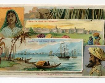 Victorian Trade Card - Arbuckle Coffee - Calcutta, Hindoostan - 1891