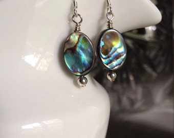Abalone Dangle Earrings