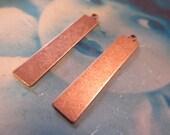 Copper Ox Long Rectangle Shape Tags 764COP x2