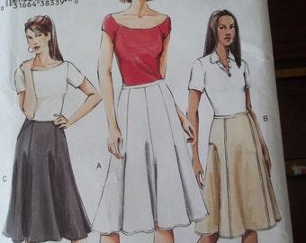 Vogue 7910 Flared Skirt Pattern Gored Skirt Size 6-10 Uncut