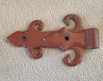Vintage Castle Wrought Iron Gate Hinge