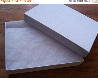 Summer Stock Up Sale 10 Pack Cotton Filled white Color Jewelry Gift and Retail Boxes 5 X 3 X 1 Inch Size