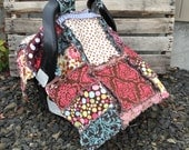 Sewing PATTERN  Rag Quilt Car Seat Canopy and Blanket for Baby Addy Mae, 3 in 1, Instant Download