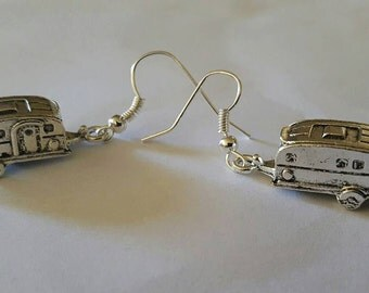 Trailer earrings, Vintage trailer, Earrings, Trailer, Trailer jewelry, MsFormaldehyde, Ready to ship, Rockabilly, Pinup, Retro