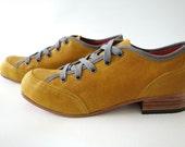 Free Shipping! Chop Chop Shoe in Ochre