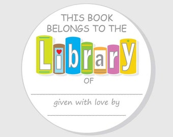 Bookplate Baby Shower Stickers - Child Library Book Stickers - Boy - Girl - Gender Neutral - 2.5 inch - 3 inch