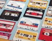 Japanese Fabric Kokka Cotton Linen Blended - Cassette  - Half Yard