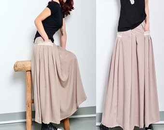 Less is more - silky linen Long Skirt (Q1001)