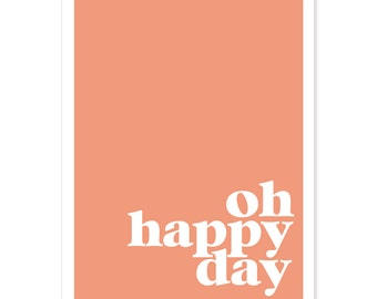 Oh Happy Day - Color Block Greeting Card