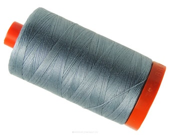 MK50 2610 - Light Blue Grey - Aurifil Cotton Thread Large Spool (1422 yds)