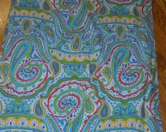 Vintage Cotton Paisley print - -48inches x44in wide -multi greens
