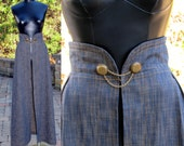 Size Large (US 12) - Vintage Inspired Denim Maxi Overskirt