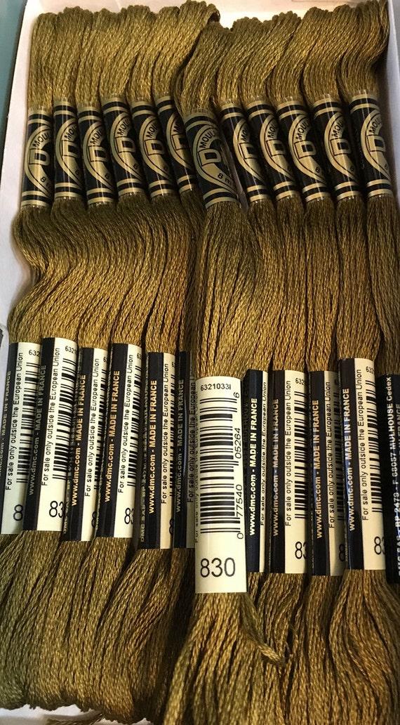 Dmc 830 Dark Golden Olive Embroidery Floss 2 Skeins 6