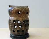Tadashi. Vintage stoneware owl from Japan.