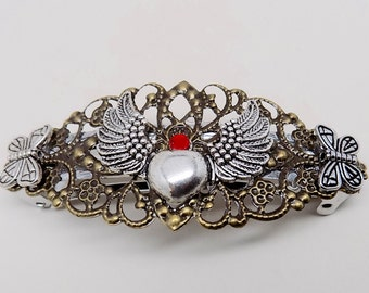 Steampunk jewelry, Steampunk large hair barrette.