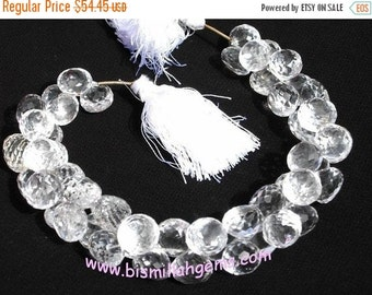 55% OFF SALE Rock Crystal Quartz Faceted Onion Briolette 100 Ctw 13 Pieces Size 9 - 11 mm approx