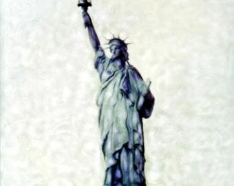 Lady Liberty - Polaroid SX-70 Manipulation - 8x8 Fine Art Photograph, Wall Decor