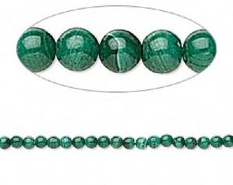 3mm Round Malachite Beads - 31 beads per package Jewerly Craft fnt