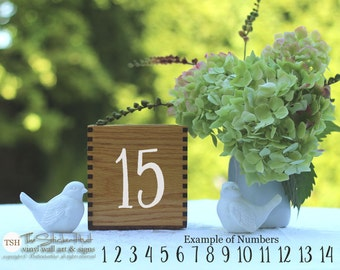 DIY Wedding Table Number Decals - For Crafts - Wedding Signs - DIY Wedding Decor - Party Decor - Vinyl Stickers Vinyl Declas 1936